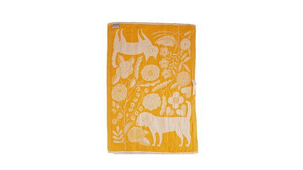 Makoto Kagoshima (鹿児島睦)/KOIRA JA KISSA/キッチンタオル/white-yellow