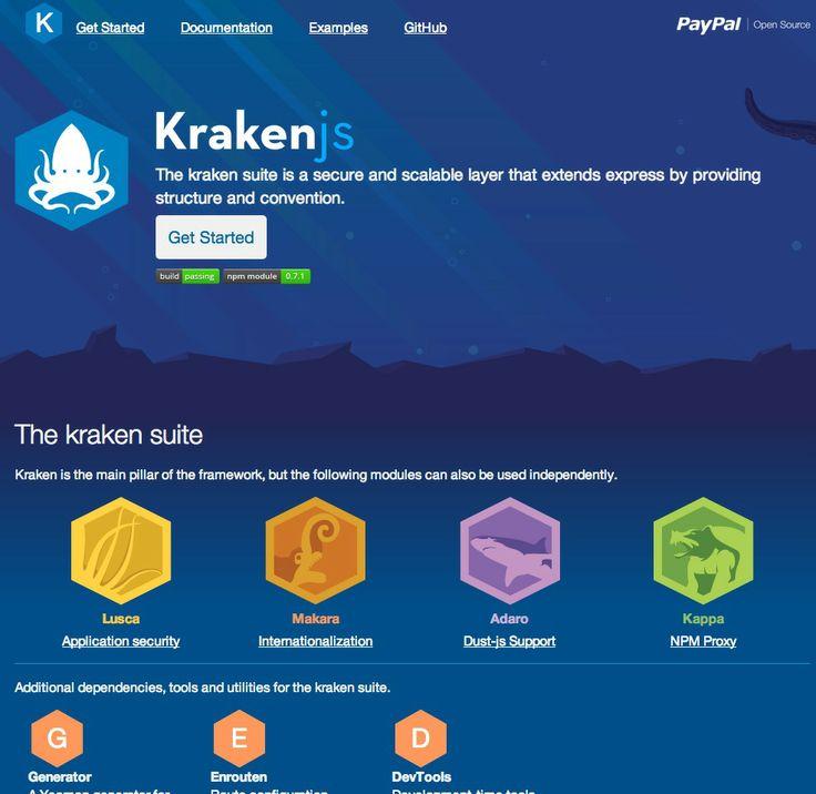 Kraken.js - PayPal's Node-based web framework and tools