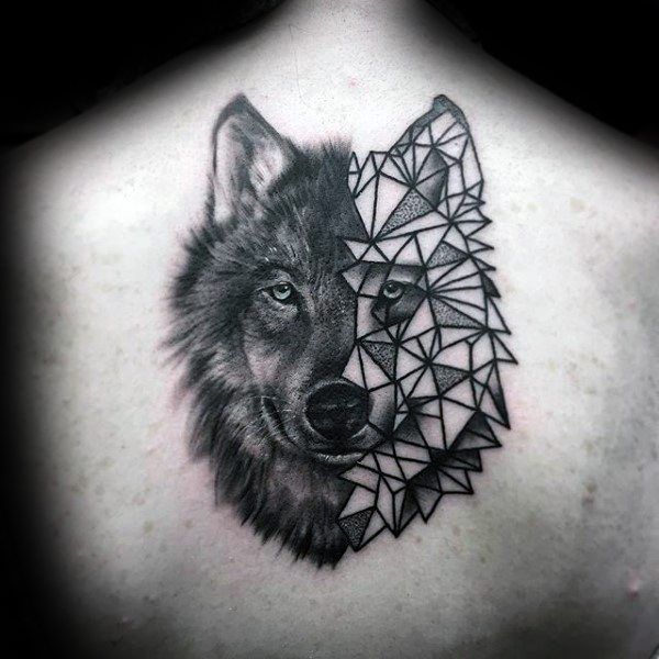 Geometric 90 Wolf Tattoo Designs for Men – Manly Ink Ideas