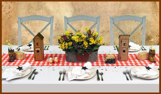 Country Western Theme Dinner Decorating | Rustic | Cowboy Party Supplies