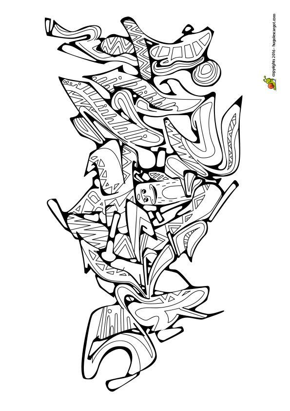Les 9 meilleures images du tableau dessin tag sur - Coloriage graffiti ...