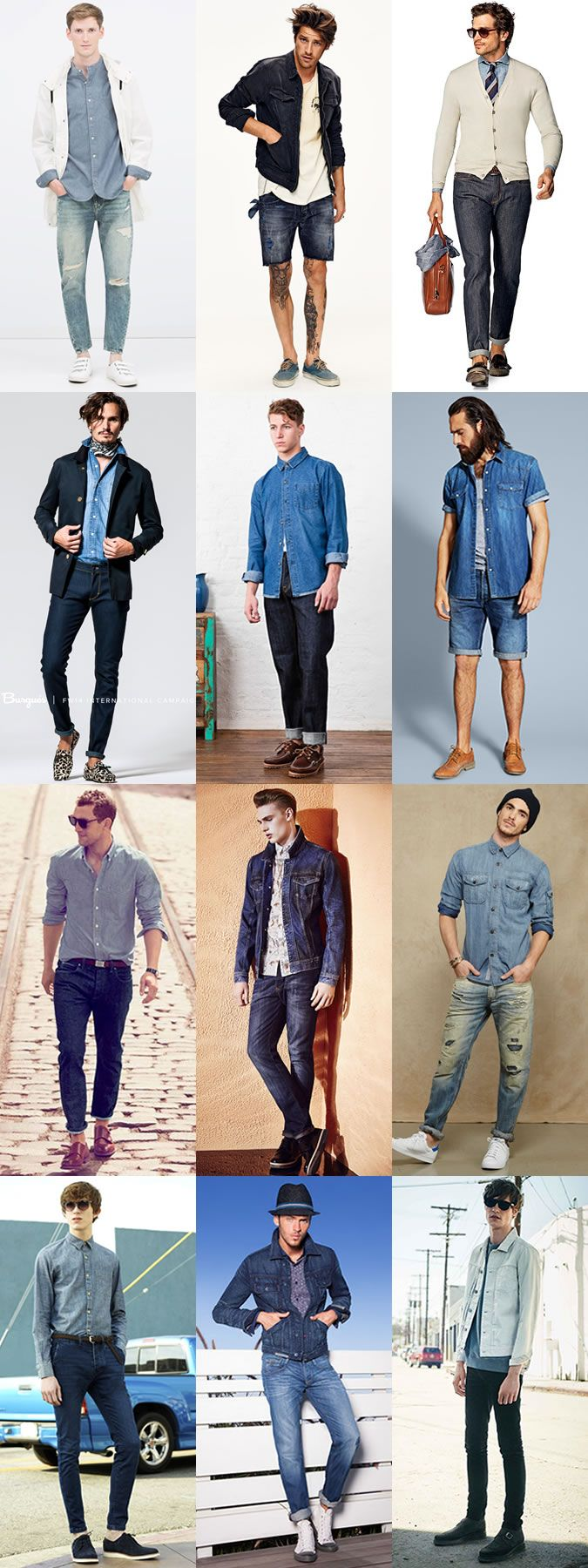 The Easy Ways To Wear Denim This Season: Double Denim Outfits Lookbook Inspiration