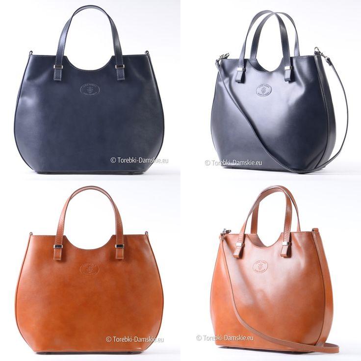 Skórzana włoska torba w pięknym fasonie, kolor jasny brąz CAMEL tutaj: http://torebki-damskie.eu/skorzane/1091-duza-owalna-jasnobrazowa-skorzana-torba.html