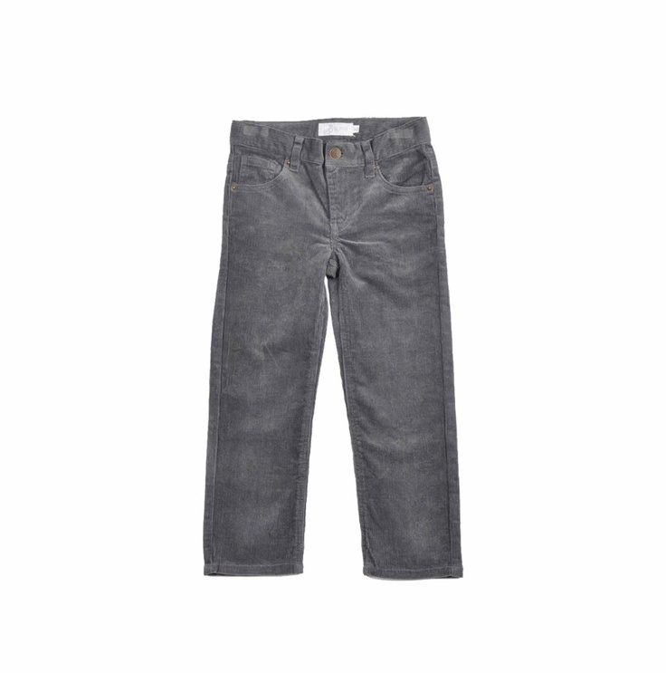 "Pantalon para niño ""Corduroy stretch"", en color gris."