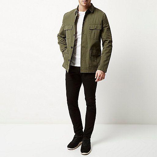 Khaki green military jacket - jackets - coats / jackets - men