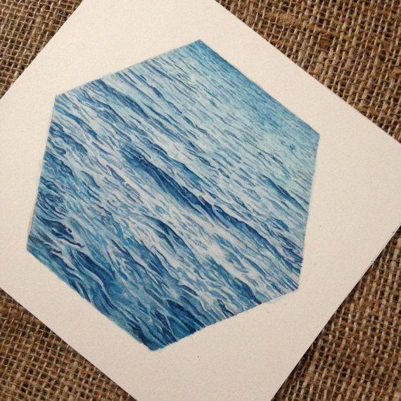 Die Siedler von Catan Brettspiels Kunst Ocean Hex Kunstwerk - Einmaliges Geschenk für Catan-fan