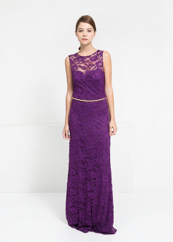 Lange kanten jurk