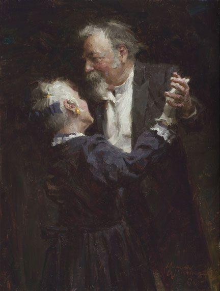 """The Waltz"", by American artist - Morgan Weistling (1964 - ), Oil on canvas, 16"" x 12"""
