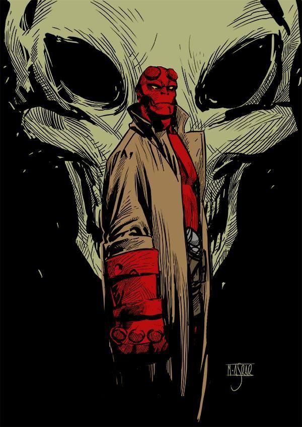 Hellboy - comics noir
