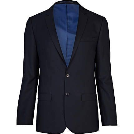 Navy skinny fit suit jacket €35.00