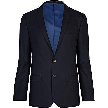 Navy skinny fit suit jacket €35.00