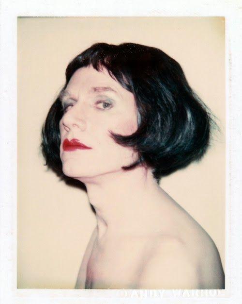 Autoportrait en Drag, 1980, polaroid