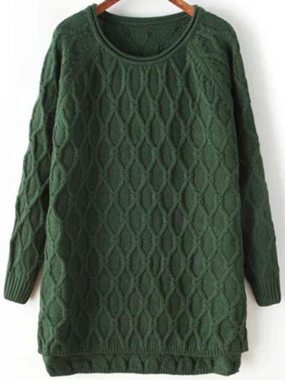 Pullover Langarm mit Karomuster, grün | berlinmo von Korallmaedchen | We Heart…