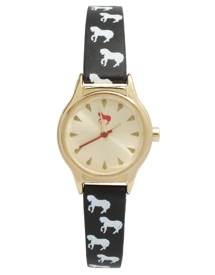 horse print watch by asos