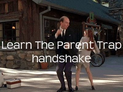 Learn the Parent Trap handshake