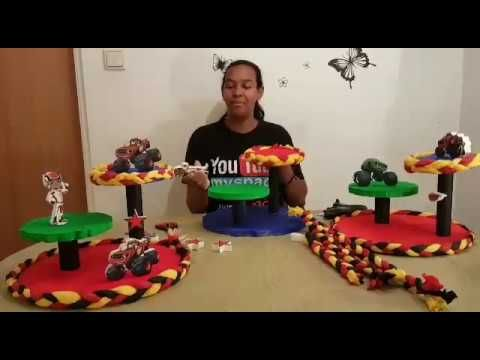 Centro de mesa Blaze and the monster machines - YouTube