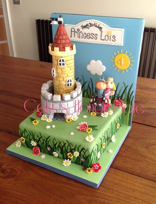 Love the background idea! Ben & Holly's Garden cake