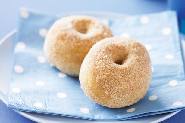 baked cinnamon doughnuts from taste.com.au These were really delicious and easy to make with half the calories of a normal doughnut. Worth the effort