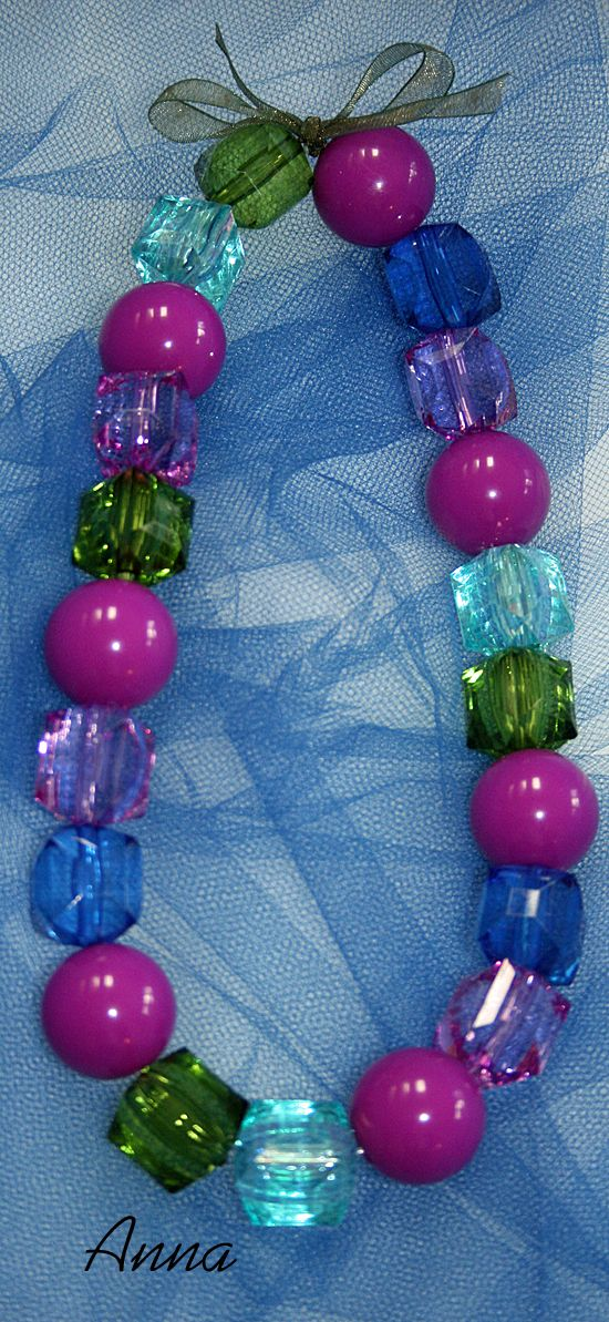 Necklace Kit by AllegroFabrics bead kits... Anna Frozen Elsa Disney DIY, a fun project to make with your little one...$11.00...with complete instructions, in a cute keepsake organza bag...best gift ever!