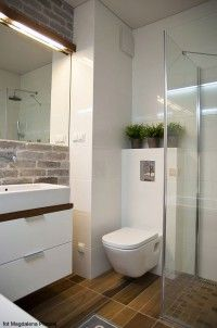 small bathroom with bath, shower, toilet and vanity. love the floor tiles.