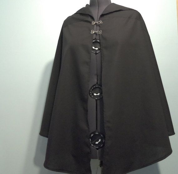 Lightweight hooded cloak for Michonne costume