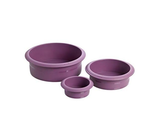 Zestaw 3 tortownic Flexi-Form, śr. 10, 15 i 20 cm
