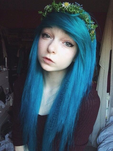17 best Lefabulouskilljoy images on Pinterest | Emo girls, Blue ...