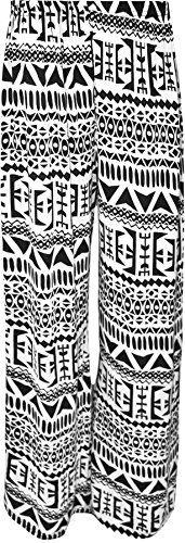 Geometric Plus Size Printed Palazzo Pants    #plussizeprintedpalazzopantstbtt