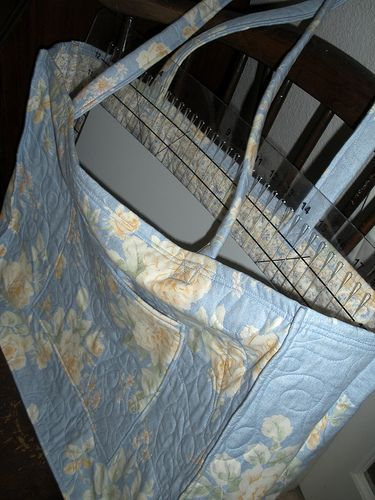 Large Tote Bag Made With Pre Quilted Material Quilts