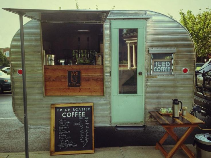 """Tin Can Roasters """"portable"""" coffee shop in downtown Lexington!  How cute is…"""
