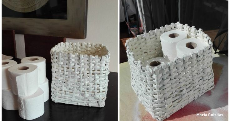 How to make a basket out of old magazines that's better than anything from a store