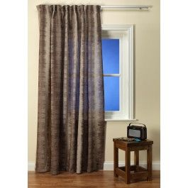 Tollak Brown Voile Curtain From £59.00 to £59.00 per metres