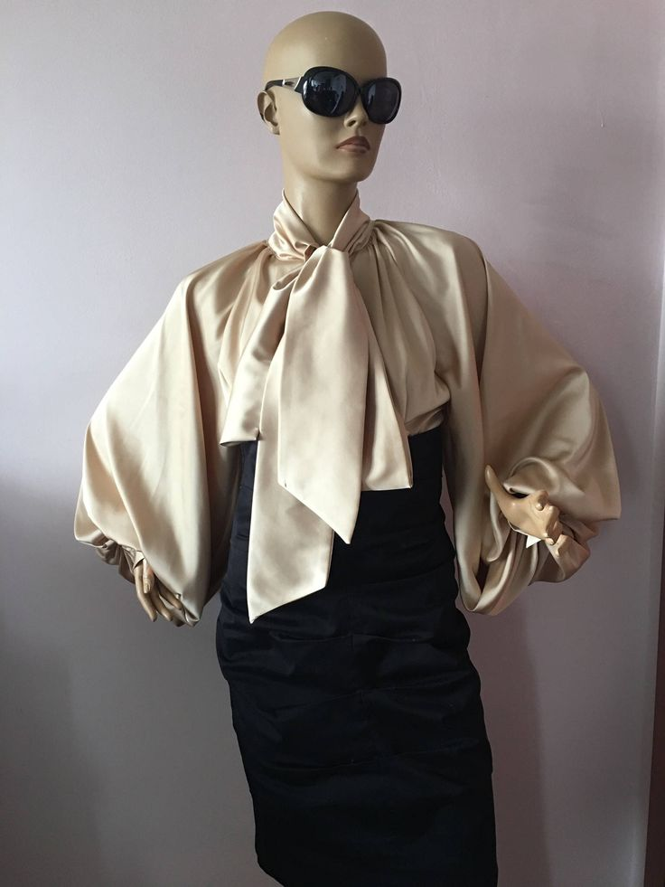 Gold Tan Formal womens satin blouse/White cocktail satin blouse/Satin Bow Blouse,Shirt by StudioMariya on Etsy https://www.etsy.com/listing/526012453/gold-tan-formal-womens-satin-blousewhite