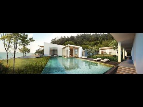 Modern Villa With View Tropical Forest And a Deep Blue Sky