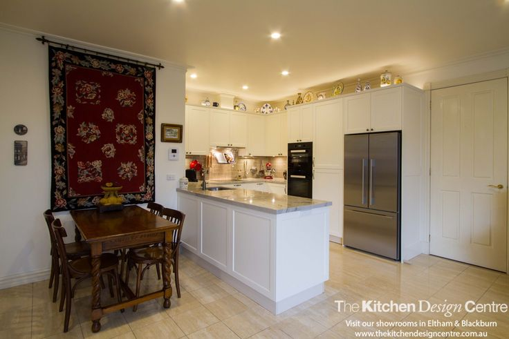 A small, traditional kitchen with beautiful features for practical, modern living. www.thekitchendesigncentre.com.au @thekitchen_designcentre
