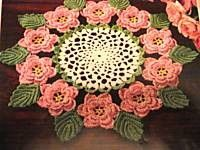 Vintage Crochet Doilie Pattern The Rose Number 30 by dianeh5091