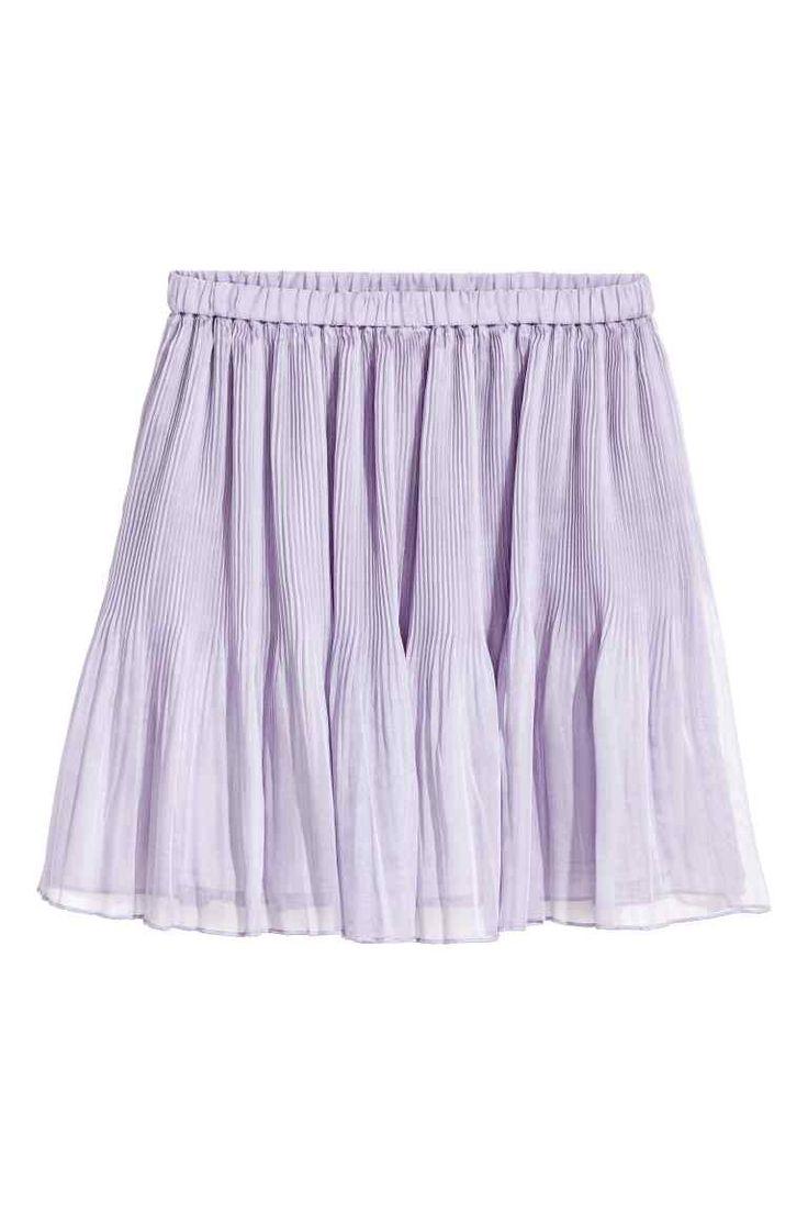 Pleated skirt - Light purple - Ladies   H&M GB