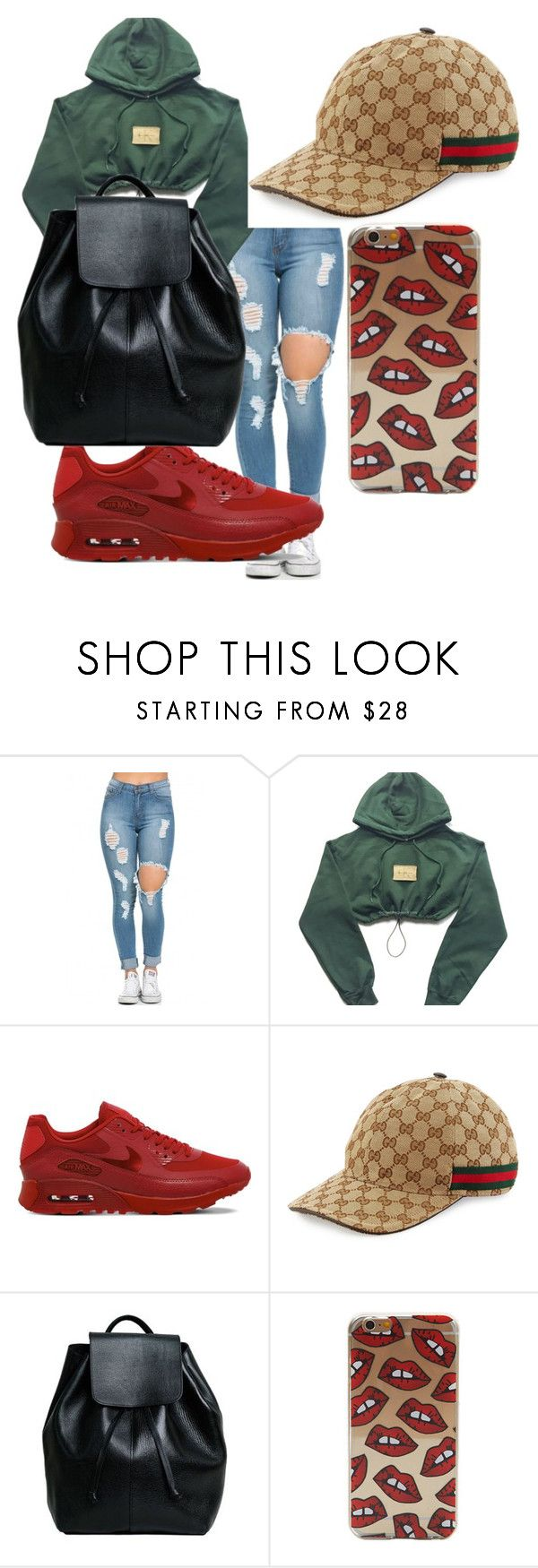 """Untitled"" by sadityillest ❤ liked on Polyvore featuring NIKE, Gucci and Henry Kole"
