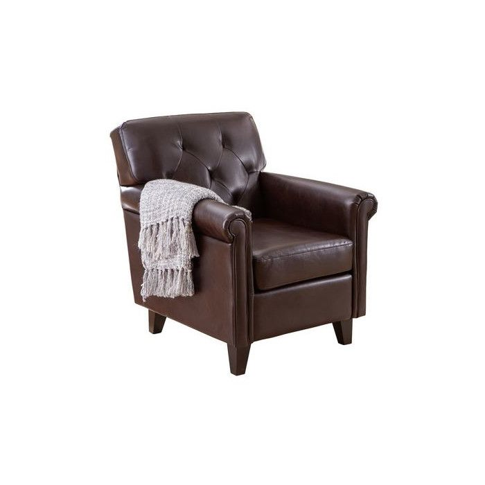Kevin Leather Arm Chair & Reviews | Joss & Main