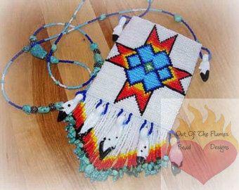 Bead PATTERN Taipa Cuff Bracelet Loom Square Stitch
