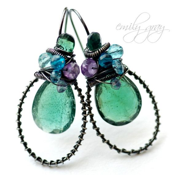 485 best wire wrapped earrings images on Pinterest | Ear studs ...