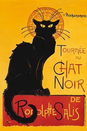 Théophile-Alexandre Steinlein – Affiche pour la Tournée du Chat Noir (1896)