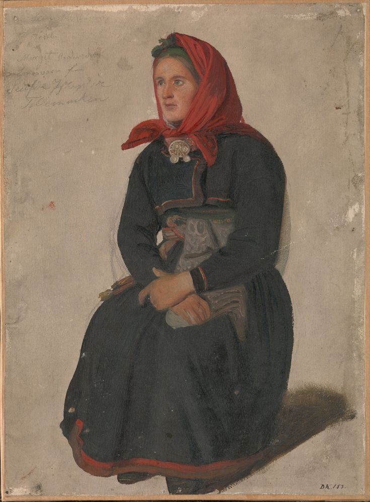 Adolph Tidemand - Peasant Woman from Telemark. 1844. jpg (4926×6692)