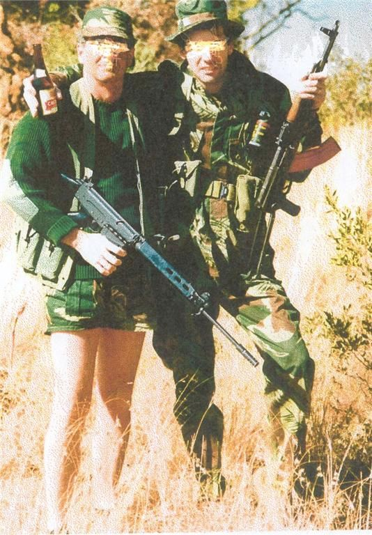 Rhodesian SAS after a mission, during the Bush War, 1970s