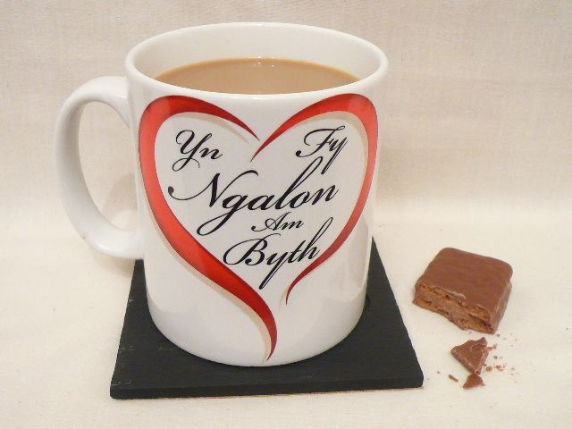 "Welsh Mug ""In my heart forever"" in Welsh! Anrhegion Cymraeg Welsh Gifts, Dishwasher & Microwave safe."