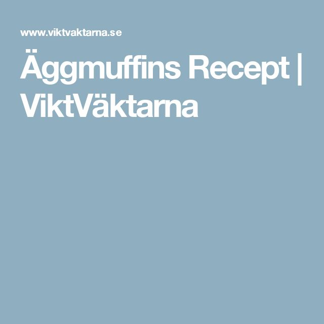 Äggmuffins Recept   ViktVäktarna