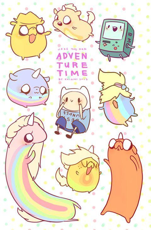 Resultado de imagen para imagenes kawaii animado de horas de aventura