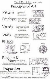 principles of art handout. if i ever want to start teaching art again... or just my kids, maybe