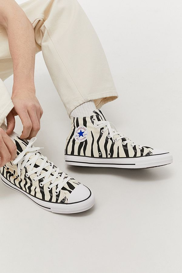 Converse Chuck Taylor All Star Zebra High Top Trainers in