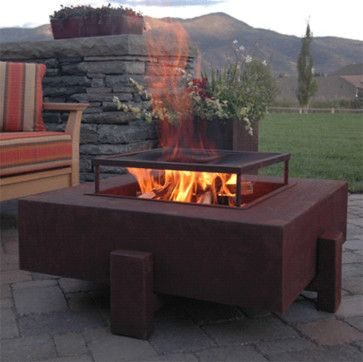 Square Patio Fire Pit - contemporary - firepits - Yard Art